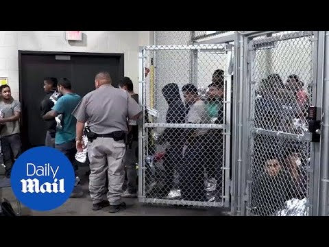 Inside look at kids being detained inside a detention center - Daily Mail