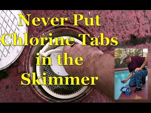 Swimming Pool Chlorine Tablets..NEVER Put In Skimmer
