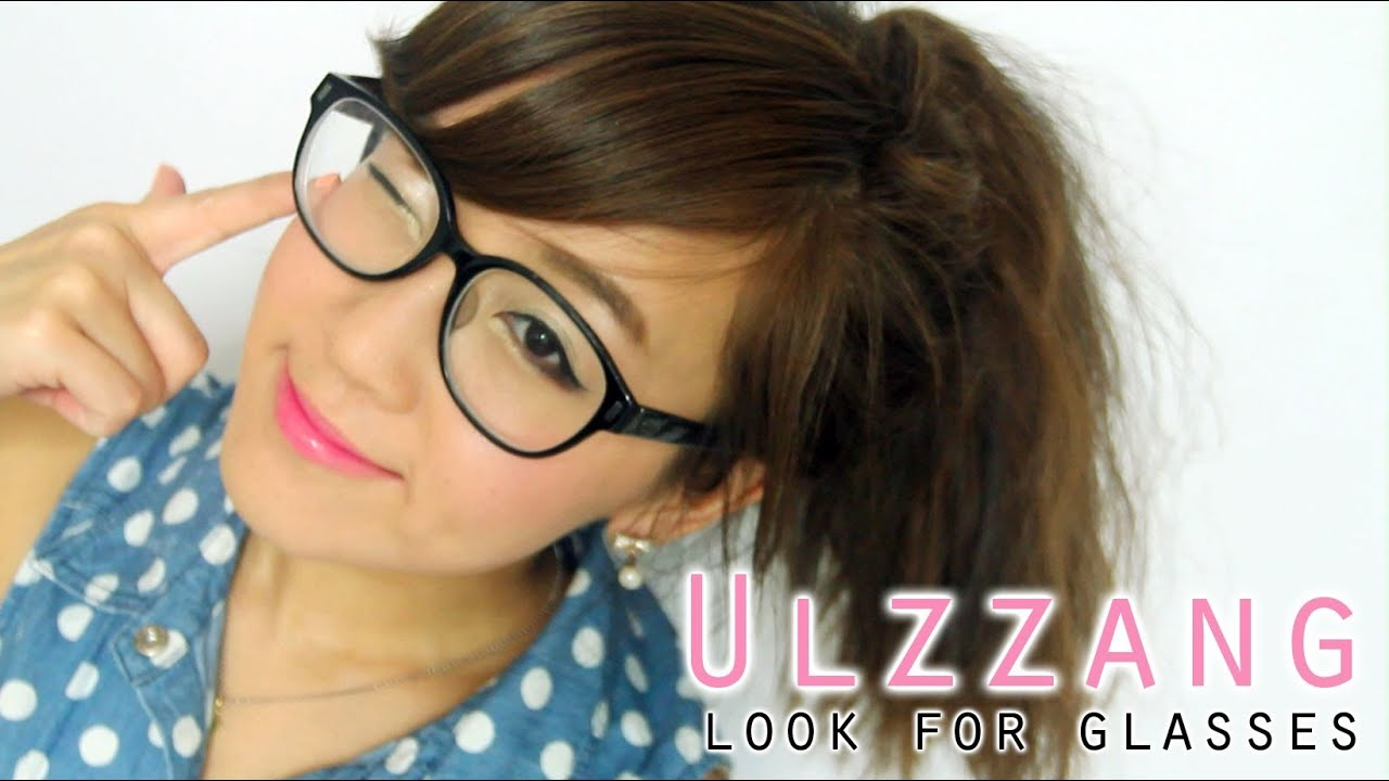 Ulzzang Makeup For Glasses