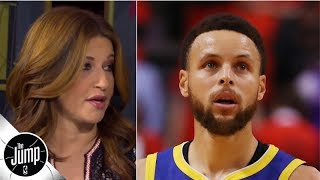 Rachel Nichols describes Steph Curry's locker room emotions after the Kevin Durant injury | The Jump