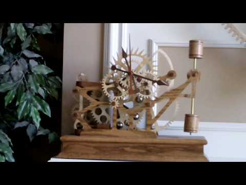 Wood Gear Clock #5 by Steve K - YouTube