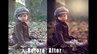 Photoshop Tutorial How to Edit Outdoor Portrait (Child) in Photoshop Cs6 & CC