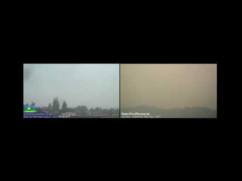 Wildfire Smoke, Grants Pass, OR, 5-17 August 2013, Timelapse