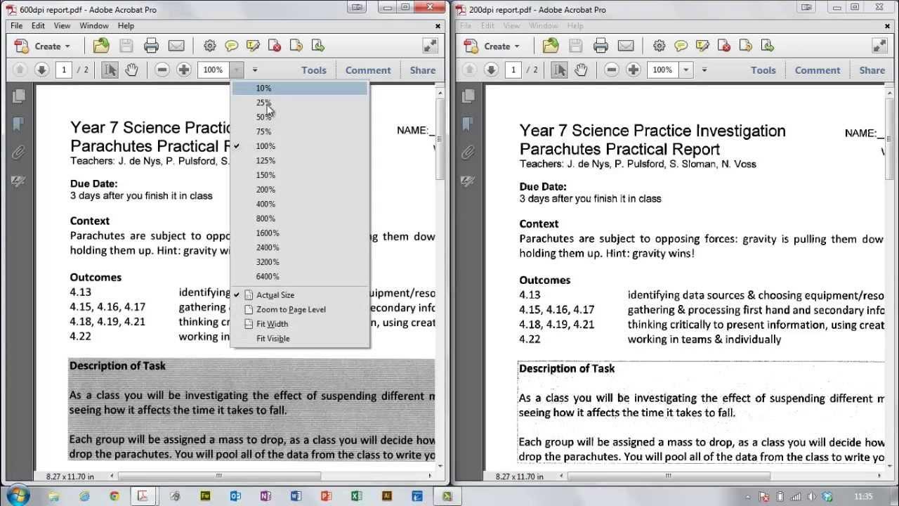 Opening PDFs, Adobe Acrobat