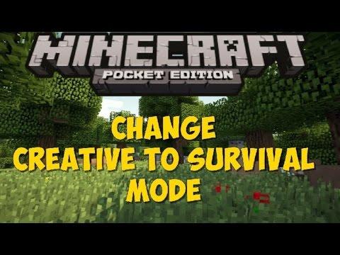 (0.10.0) CHANGE CREATIVE TO SURVIVAL MODE!   Minecraft Pocket Edition Mod (IOS)