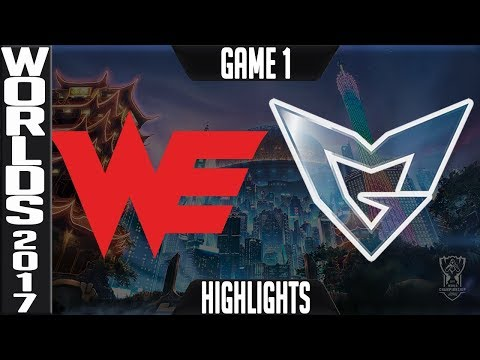 WE vs SSG Highlights Game 1 - Semifinal World Championship 2017 Team WE vs Samsung Galaxy G1