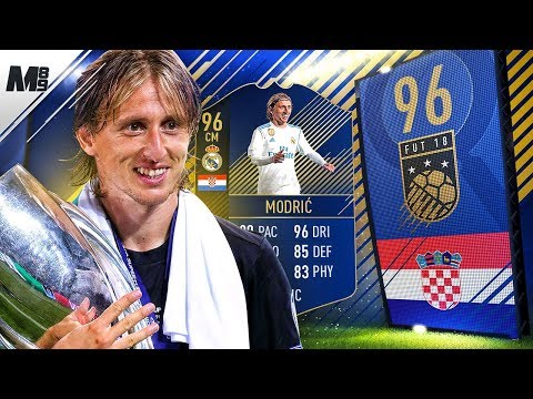 FIFA 18 TOTY MODRIC REVIEW | 96 TOTY MODRIC PLAYER REVIEW | FIFA 18 ULTIMATE TEAM