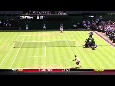 Serena Williams vs Michelle Larcher de Brito 2010 Highlights