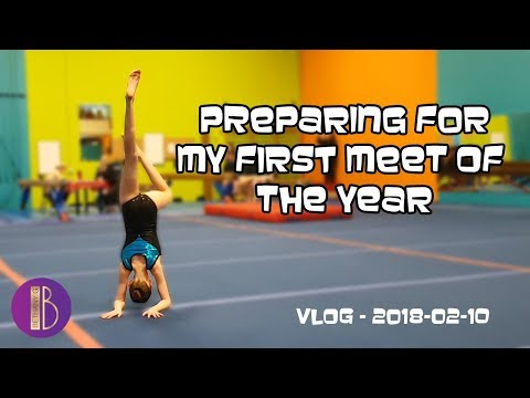 Gymnastics Meet Vlog | Get Ready With Me | Bethany G