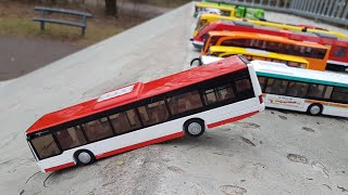 Toy Cars Slide Dlan Play Sliding Cars Video for Kids (BUSES)