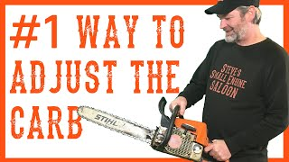How to Adjust or Tune the Carburetor on a Chainsaw Video