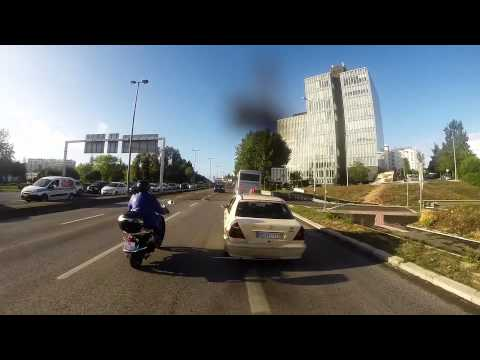 Motorbike Close Call – Move over!