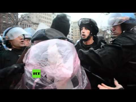 Riot police violently disperse Occupy DC with batons