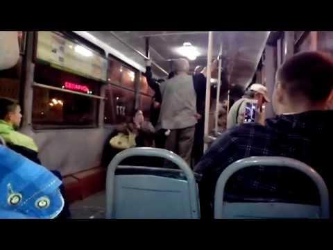 Витебск, едем с зорбинга, пьяное быдло в трамвае