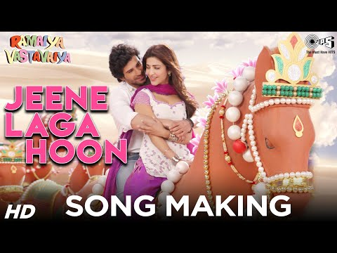 Jeene Laga Hoon Song Making - Ramaiya Vastavaiya Behind The Scenes video
