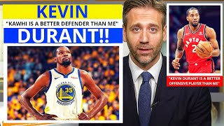 Kevin Durant(Warriors) Kawhi Leonard(Raptors) Free Agent Value? First Take Stephen/Max [Commentary]