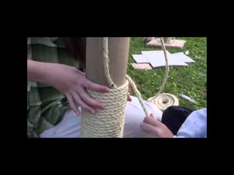 Scouts Make Cat Scratching Post