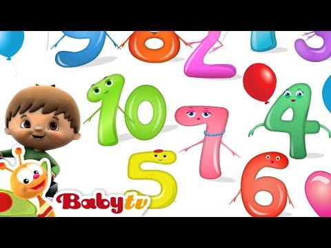 Τραγούδι Μετρώ - Γνωρίστε τους αριθμούς 1 έως 10 στο Charlie & The Numbers,BabyTV Ελληνι