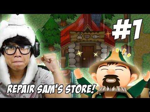 RENOVASI TOKO SAM! (REPAIR SAM'S STORE) - Harvest Moon: Light of Hope #1