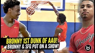 Bronny James FIRST IN-GAME DUNK of AAU Season!! 1st Dunk As a High Schooler!!! SFG Crazy Show!