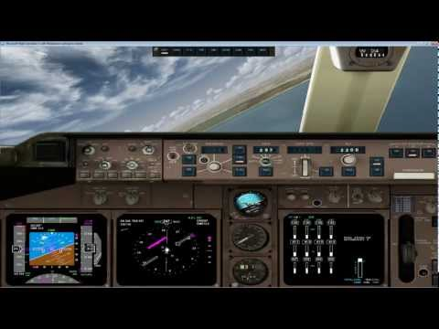 Aproximacion y aterrizaje Boeing 747 PMDG