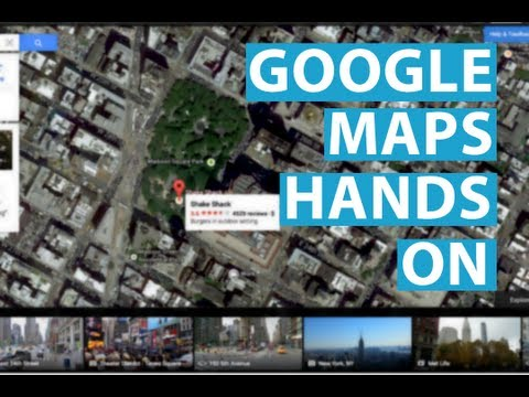 New Google Maps: Hands On @ Google I/O 2013