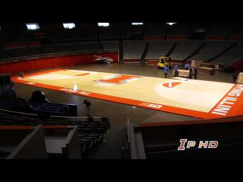 Illinois' New Basketball Court Feature