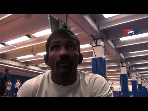 Olympic Bronze Medalist Yogeshwar Dutt of India Trains at OTC