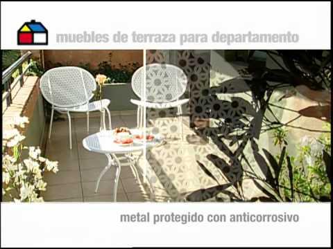 qu muebles podemos poner en una terraza peque a youtube On muebles para terraza pequena