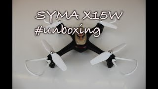 Syma X15W- Představení a unboxing dronu Syma X15W