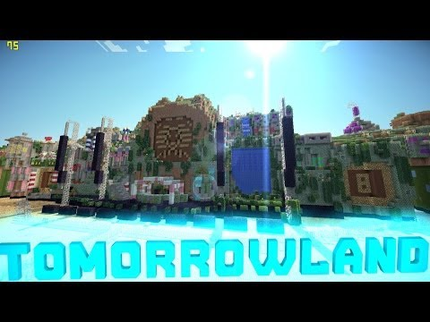 [0.8.1]Minecraft PE Custom Map Tomorrowland ! [DOWNLOAD]