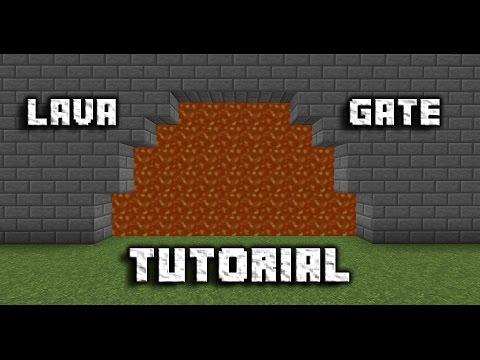 Minecraft Lava Gate Tutorial!