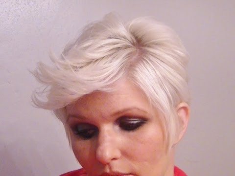 Pixie Edgy Flipped Up Piece-y Short Hairstyle Tutorial