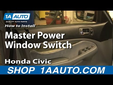 How To Install Replace Master Power Window Switch Honda Civic 01-05 1AAuto.com