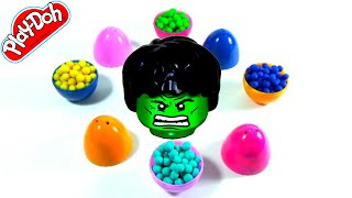 Surprise Eggs with Colored Play Doh Balls–Disney Frozen Sponge Bob LPS MLP LEGO Shopkins Marvel