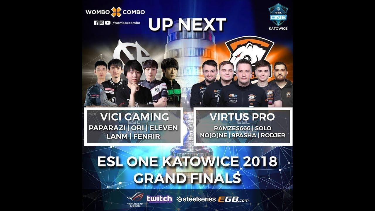 Virtus.Pro vs Vici Gaming Game 4 (BO5) GrandFinals | ESL One Katowice 2018