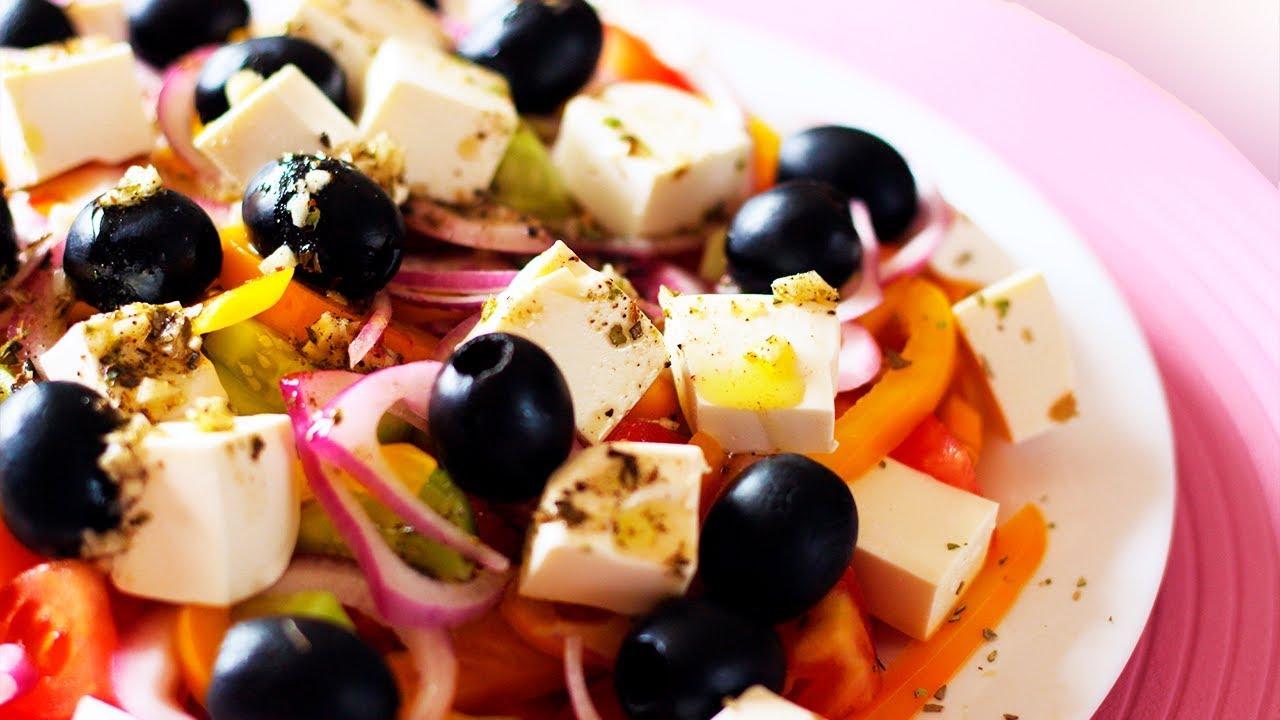 Греческий салат классический рецепты пошагово