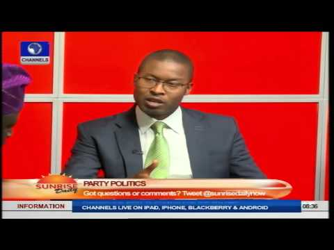 Sunrise Daily: Political Scientist Speaks on Politics In Nigeria PT1