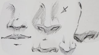 How to draw Manga - Drawing Noses