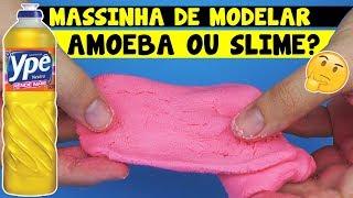 Como fazer SLIME / AMOEBA / MASSINHA DE MODELAR de DETERGENTE | TIO LUCAS
