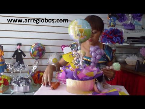 Centro de mesa para Primera Comunion www.arreglobos.com
