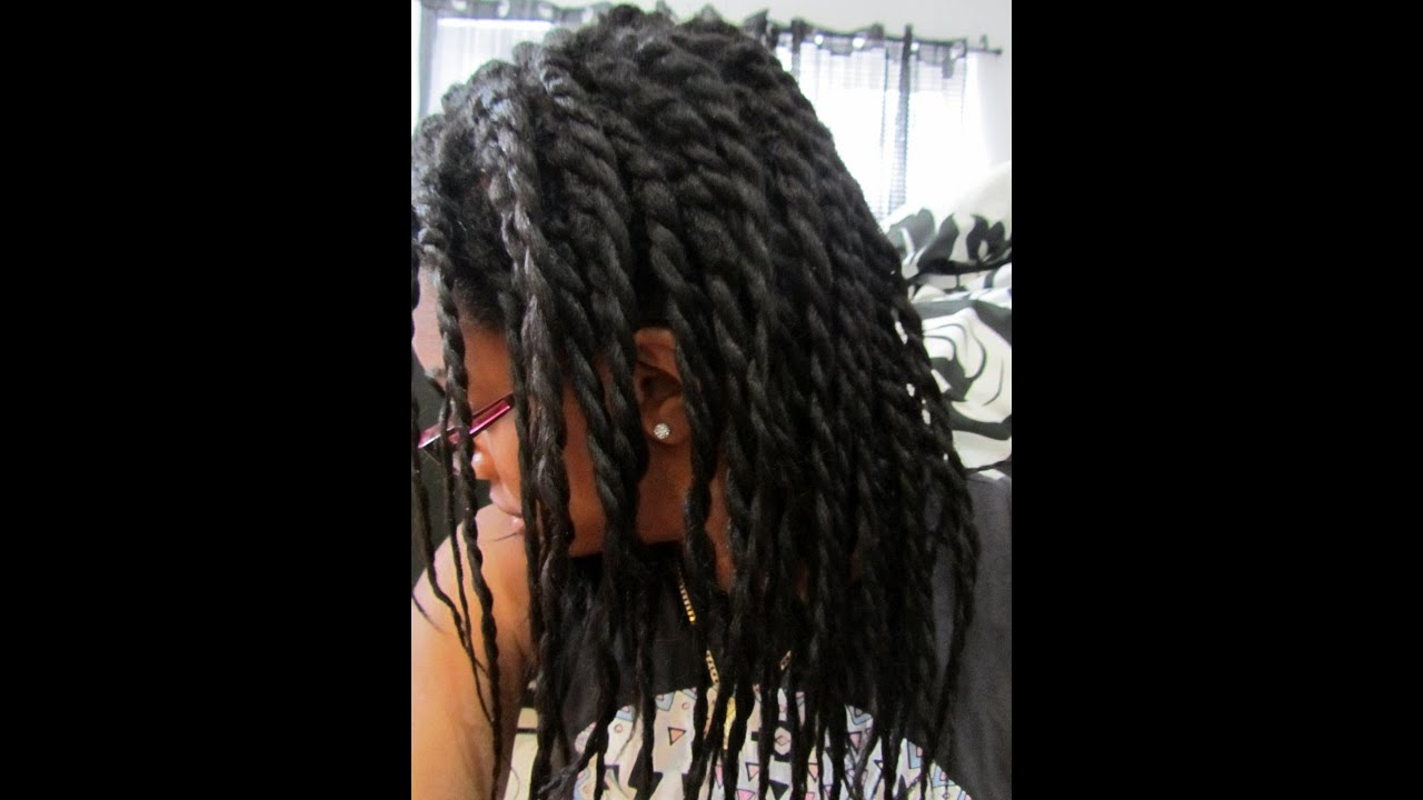 Two Strand Twist On Relaxed Hair Youtube