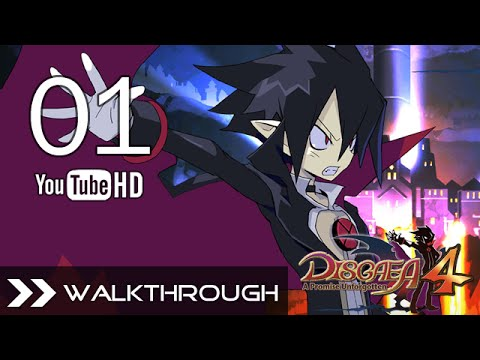 Disgaea 4: A Promise Revisited (PS Vita) - Gameplay Walkthrough Part 1 No Commentary English Dub