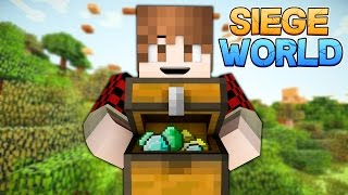 Minecraft: SIEGE WORLD - Tower Parkour Treasure S1E2 (Warzone Kills, Player Skulls, Mine Upgrades!)