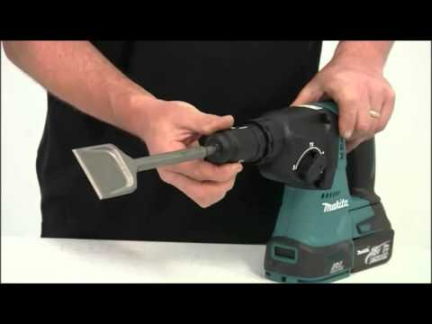Makita BHR243Z SDS Brushless Rotary Hammer Drill In Action