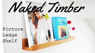 Making a Modern Picture Ledge Shelf - Custom Woodworking project