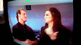 Wwe dolph ziggler and Stephanie McMahon backstage