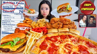 Eating ONLY Recommended Serving Sizes CHALLENGE for POPULAR MUKBANG FOOD (Fried Chicken, Pizza)