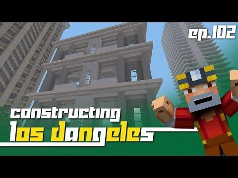 Minecraft Xbox 360: Constructing Los Dangeles Episode 102 Papas Apartments