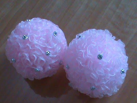 Как сделать шарик из банта